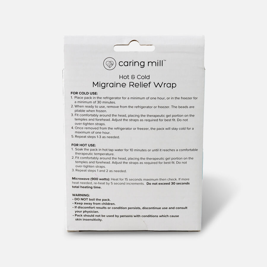 Caring Mill® Hot & Cold Migraine Relief Wrap, , large image number 1