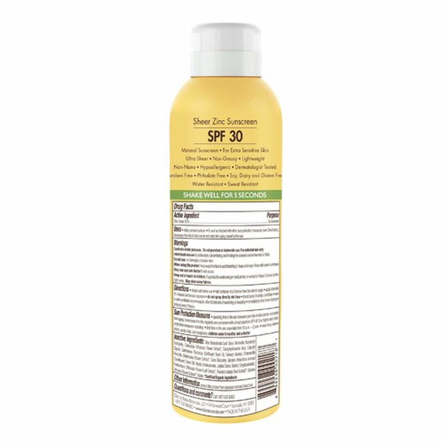 Babo Botanicals Sheer Zinc Continuous Spray Sunscreen, SPF 30, 6 fl.oz - 2 pack, , large image number 1