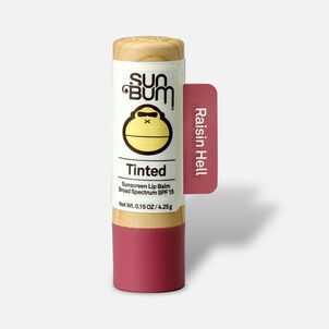 Sun Bum SPF 15 Tinted Lip Balm, Raisin Hell, .15 oz