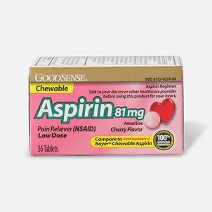 GoodSense® Aspirin 81 mg Low Dose Chew Tabs Cherry Flavor, 3/36 ct
