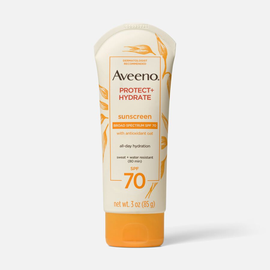 Aveeno Active Naturals Protect + Hydrate Sunscreen SPF 70 Lotion, 3 oz, , large image number 0