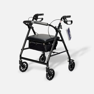"""Drive Aluminum Rollator with Fold Up and Removable Back Support, 6"""" Casters"""