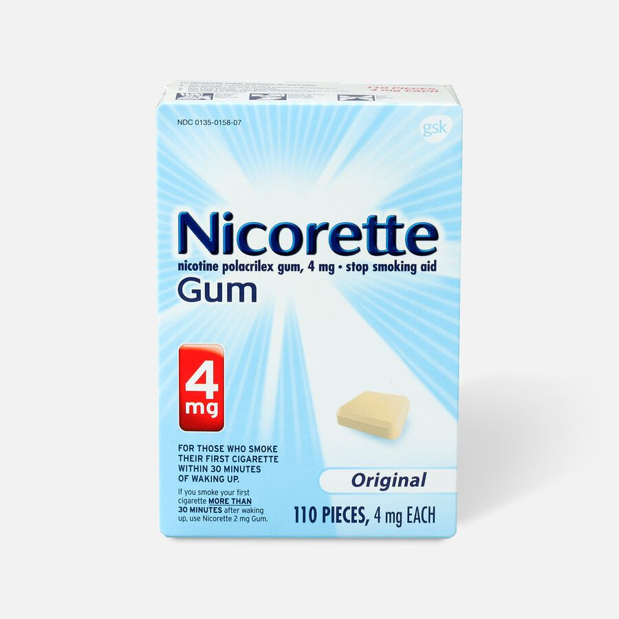 Nicorette Gum Original, 4mg, 110 ct, , large image number 0