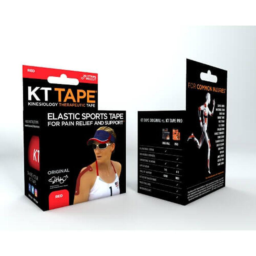KT TAPE Original, Pre-cut, 20 Strip, Cotton, Red , Red, large image number 3