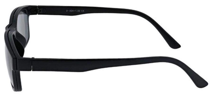 Sunglass Reader with Magnetic Detachable Polarized Lens, +2.50, Black/Smoke, Black/Smoke, large image number 3
