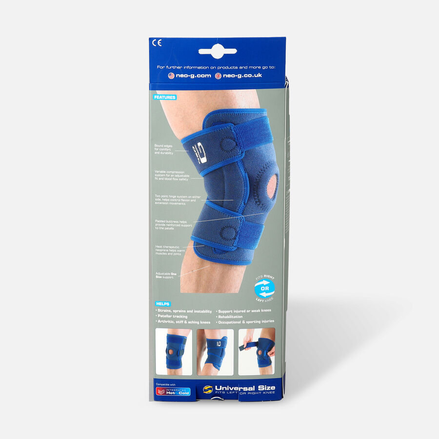 Neo G Hinged Open Knee Support, One Size, , large image number 1