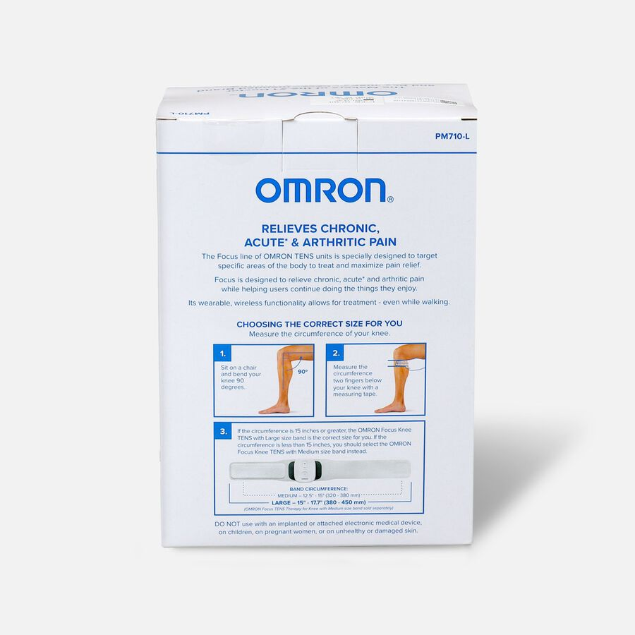 OMRON Focus TENS Therapy for Knee, Wearable, Wireless, Large, , large image number 1