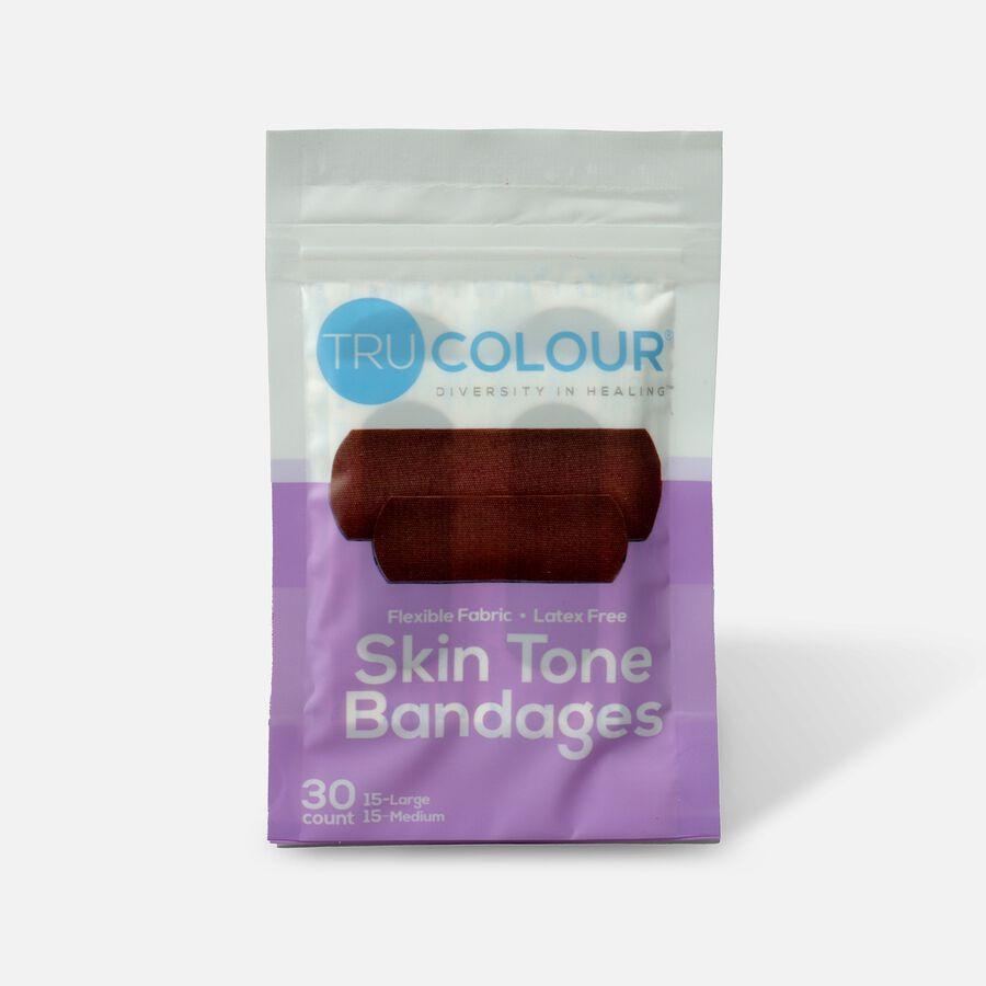 Tru-Colour Bandages Flexible Fabric Bandages, Dark Shade 30 ct, Dark, large image number 0