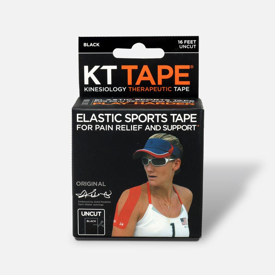KT Tape Pro Uncut 16 ft roll, Black, Black, large image number 0