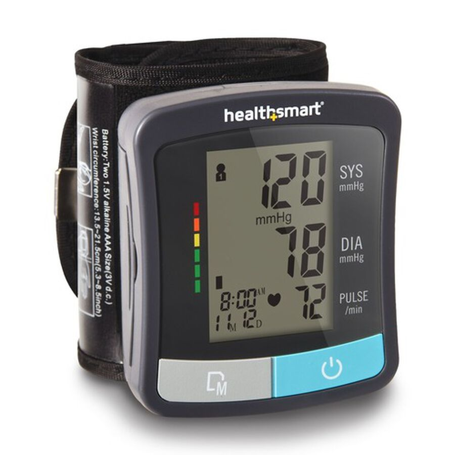 HealthSmart Standard Series LCD Wrist Digital Blood Pressure Monitor, , large image number 9