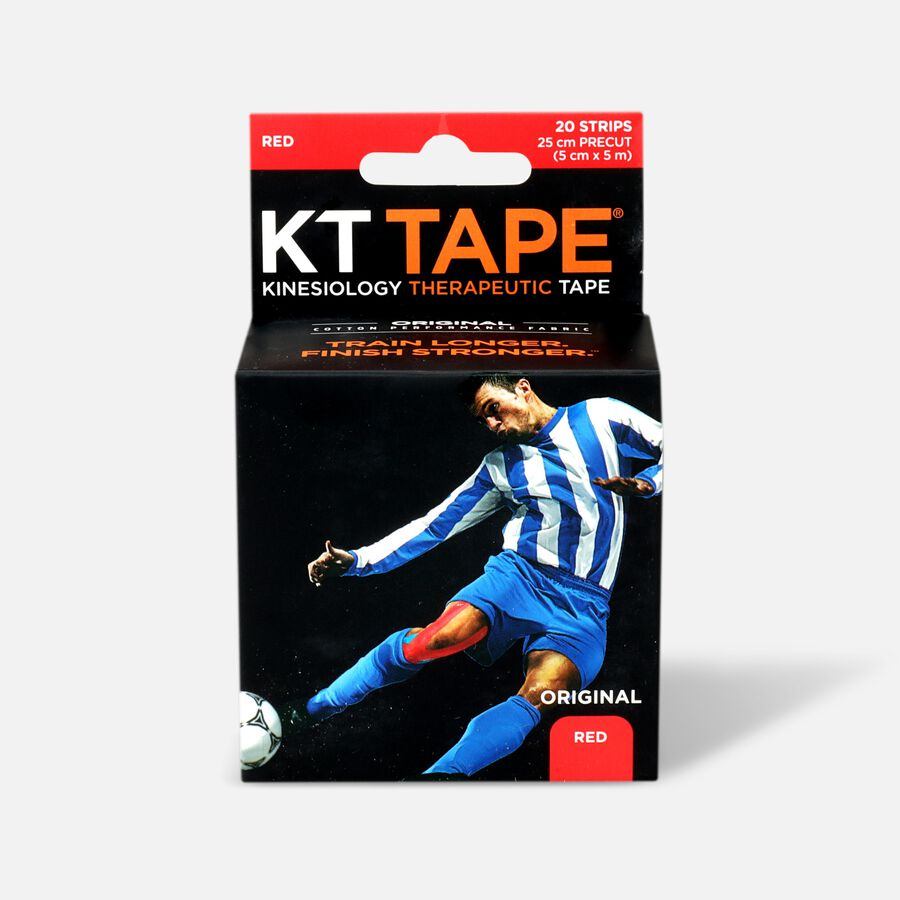 KT TAPE Original, Pre-cut, 20 Strip, Cotton, Red , Red, large image number 0
