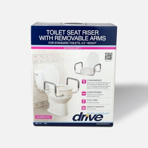 Drive Medical Toilet Seat Riser with Removable Arms