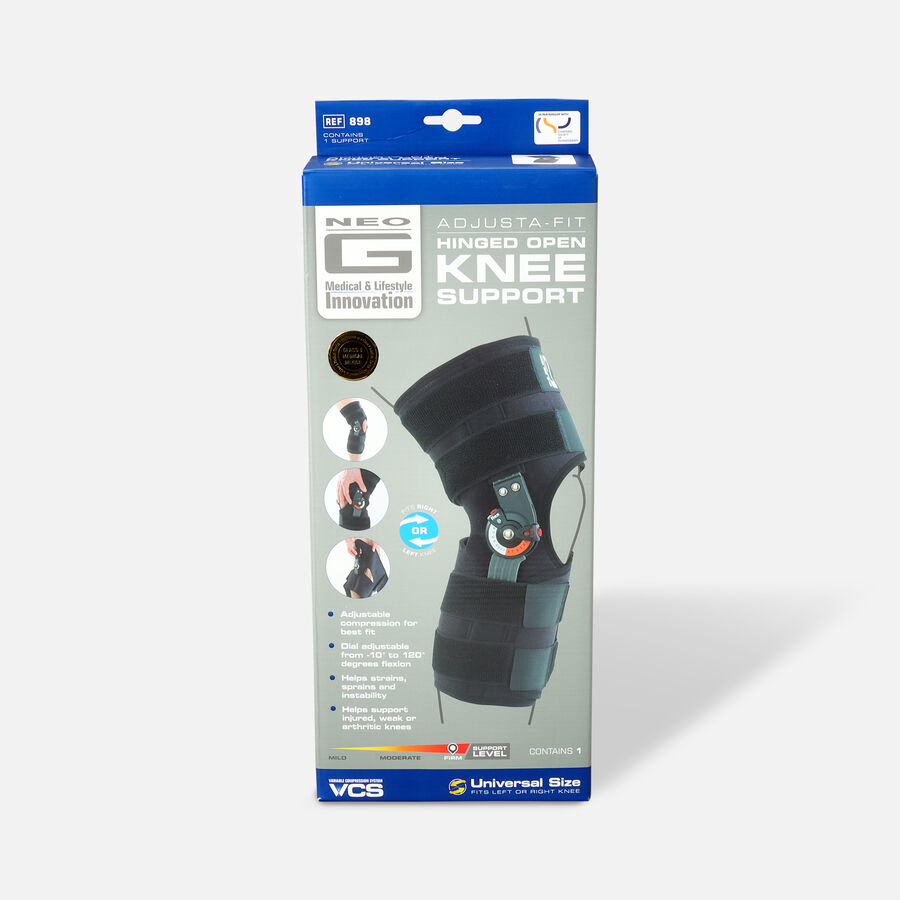 Neo G Adjusta Fit Hinged Open Knee Brace, One Size, , large image number 0