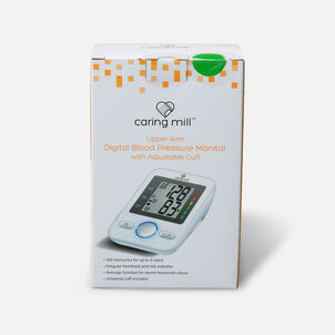 Caring Mill® Upper Arm Digital Blood Pressure Monitor with Adjustable Cuff