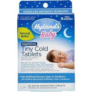 Hyland's Baby Nightime Tiny Cold Tablets, 125 ct