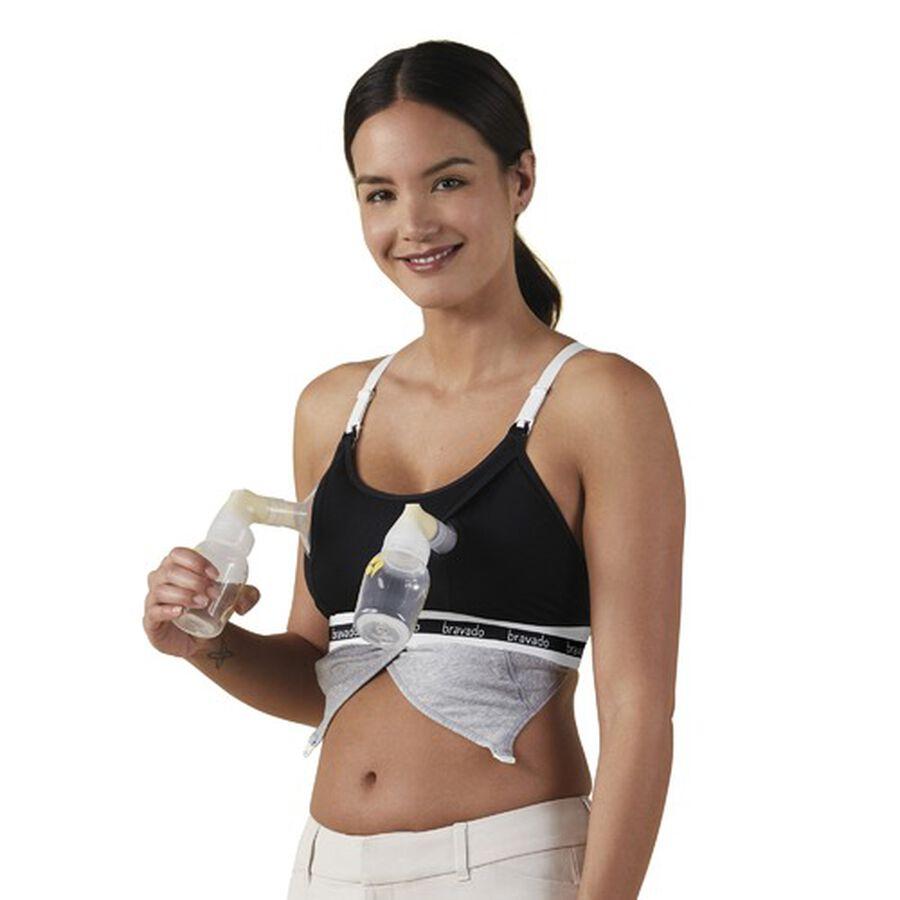 Clip and Pump Hands-Free Nursing Bra Accessory, Black, , large image number 0