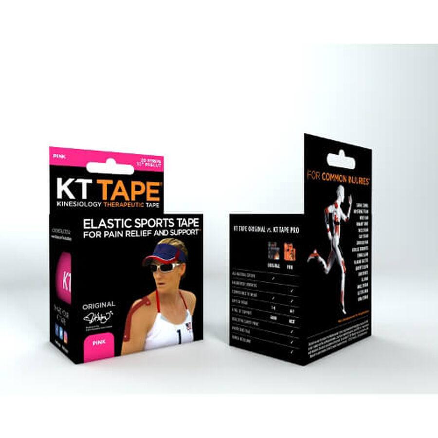 KT TAPE Original, Pre-cut, 20 Strip, Cotton, Pink, Pink, large image number 2