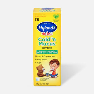 Hyland's 4 Kids Cold 'n Mucus, Daytime, 4 oz