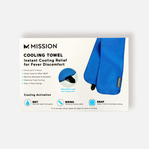Mission Fever Relief Cooling Towel, Electric Blue Lemonade