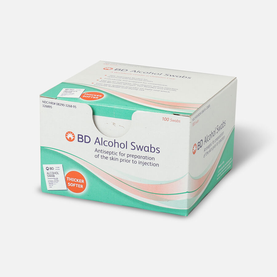 BD™ Alcohol Swabs - 100 Each, , large image number 2