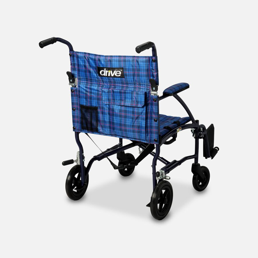 """Drive Fly-Lite Ultra Lightweight Aluminum Transport Chair, 19"""", Blue, , large image number 1"""