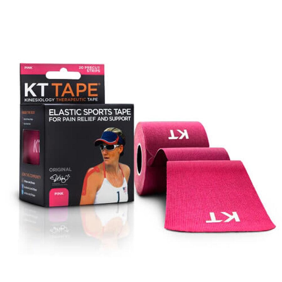 KT TAPE Original, Pre-cut, 20 Strip, Cotton, Pink, Pink, large image number 1
