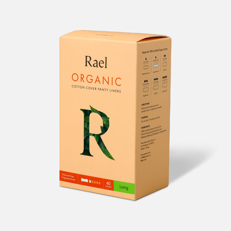 Rael Organic Cotton Cover Panty Liners - Long, , large image number 3