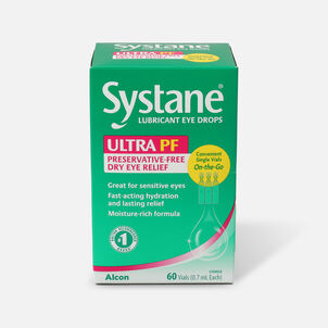 Systane Ultra Preservative Free Lubricant Eye Drops, 60 ct