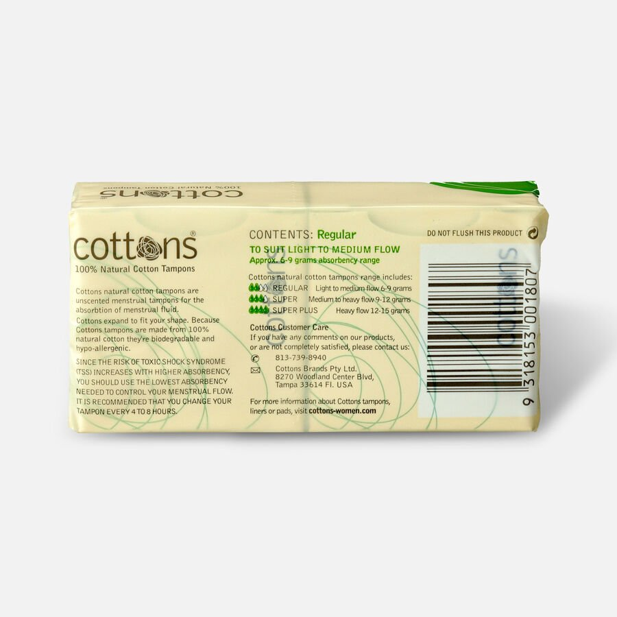 Cottons Tampons, 16ct, , large image number 1