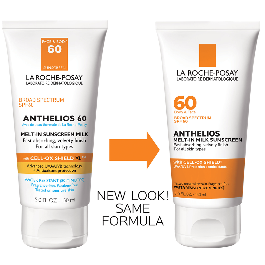 La Roche-Posay Anthelios 60 Body and Face Sunscreen Melt-In Milk Lotion, SPF 60 with Antioxidants, 5 Fl. Oz., , large image number 1