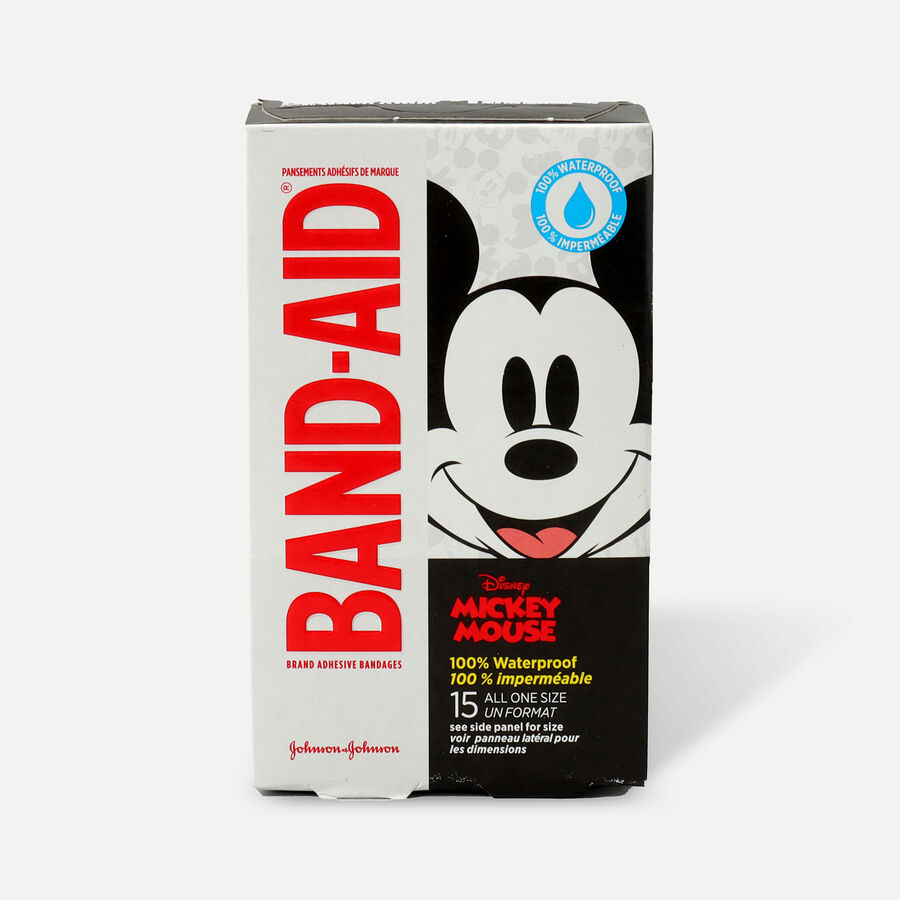 Band-Aid Disney Mickey Waterproof Bandages - 15ct, , large image number 0