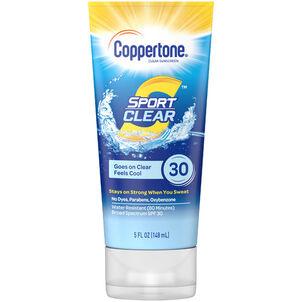 Coppertone Sport Clear Sunscreen Lotion, SPF 30, 5 oz