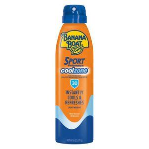 Banana Boat Sport Performance Cool Zone Clear Sunscreen Spray SPF 30, 6.0 oz