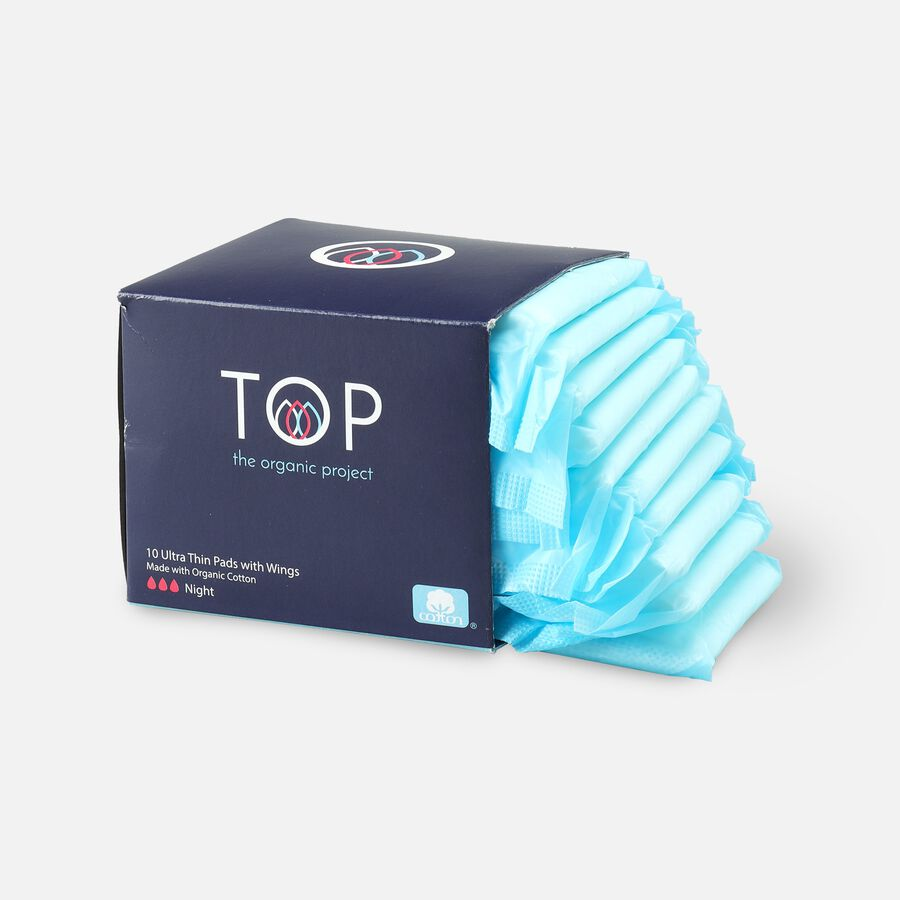 TOP Organic Cotton Ultra Thin Period Pads with Wings, , large image number 7