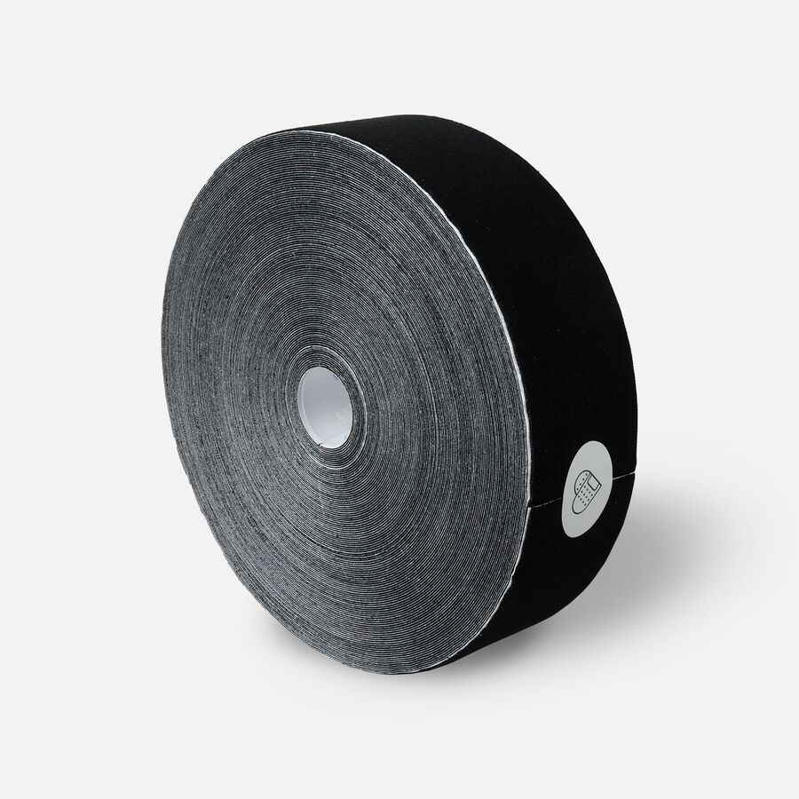 Caring Mill® Kinesiology Tape,115 Feet Uncut Roll, Black, Black, large image number 3
