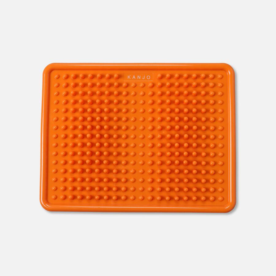 KanjoAcupressure Foot Pain Relief Mat, Orange, , large image number 0